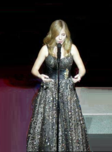 Evancho black dress